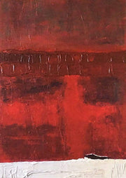 Red Abstract Art Oversized Canvas Wall Art Heavy Texture Painting Abstract Painting | RITE OF CLEANSING - Trend Gallery Art | Original Abstract Paintings
