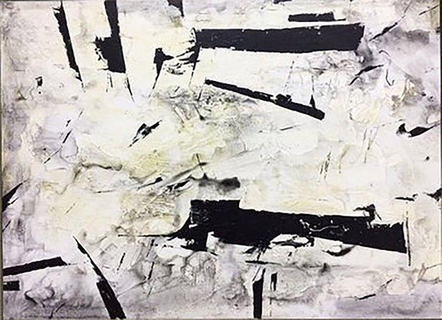 Large Contemporary Art White Wall Art Black Painting Original Painting On Canvas | POTENTIAL - Trend Gallery Art | Original Abstract Paintings