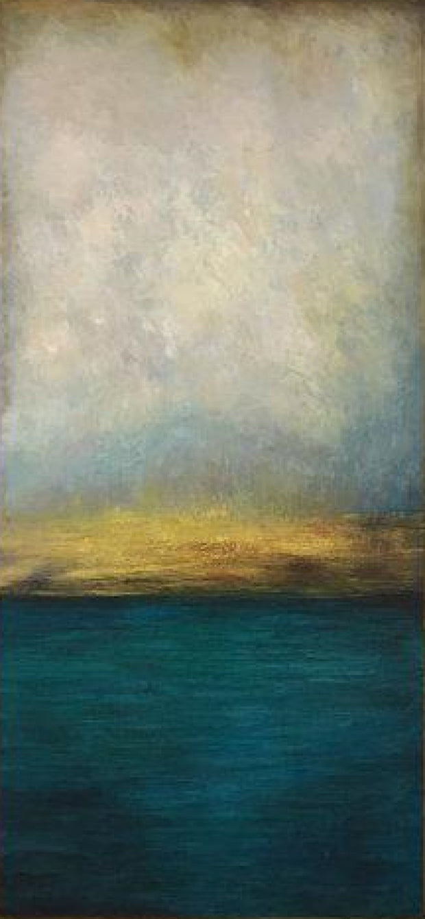 Sea Abstract Painting Blue Abstract Painting Gray Painting Sunset Painting | WATERSCAPE - Trend Gallery Art | Original Abstract Paintings