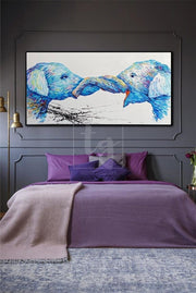 Elephant Abstract Artwork Original Elephant Painting Animal Paintings On Canvas Elephant | FRIENDSHIP - Trend Gallery Art | Original Abstract Paintings