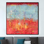 Extra Large Wall Painting Modern Abstract Painting Original Oil Painting Red Abstract | SYSTEM CALL - Trend Gallery Art | Original Abstract Paintings