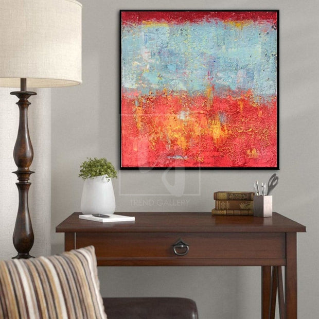 Extra Large Wall Painting Modern Abstract Painting Original Oil Painting Red Abstract | SYSTEM CALL