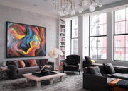 Faces Abstract Painting Extra Large Fine Art Abstract Original Artwork Painting | PLEASURE OF LIVING - Trend Gallery Art | Original Abstract Paintings