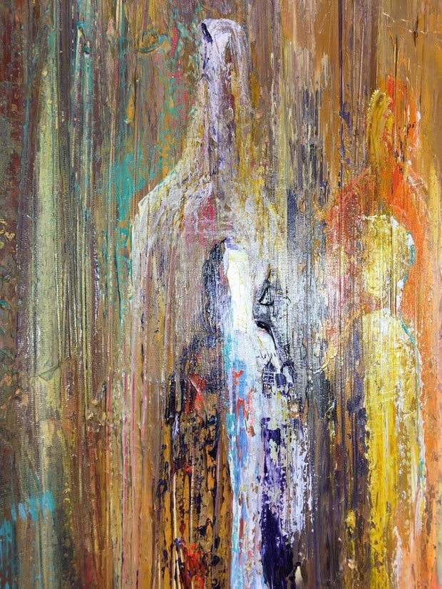 Figurative Abstract Painting Large Colorful Painting Humans Abstract Painting Fashion Art | SECRET DESIRES - Trend Gallery Art | Original Abstract Paintings