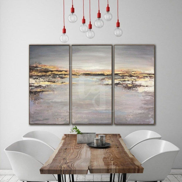 Gold Leaf Painting Large Oil Painting Original Canvas Abstract Acrylic Painting On Canvas | HEALING WATER - Trend Gallery Art | Original Abstract Paintings