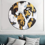 Gold Painting Large Contemporary Art Black And White Art Painting | PREDATORY COLOR