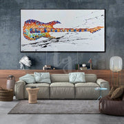 Huge Guitar Painting Extra Large Guitar Abstract Painting | YOUTHFUL DREAMS - Trend Gallery Art | Original Abstract Paintings