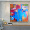 Abstract Painting in Multicolored, Rainbow and Blue | RAINBOW - Trend Gallery Art | Original Abstract Paintings