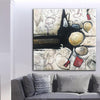 Abstract Art in White, Black and Gold | TALK - Trend Gallery Art | Original Abstract Paintings