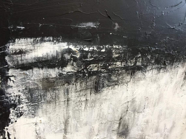 Large Contemporary Painting Black White Art White Painting Artwork Canvas | FETTERS OF FATE - Trend Gallery Art | Original Abstract Paintings