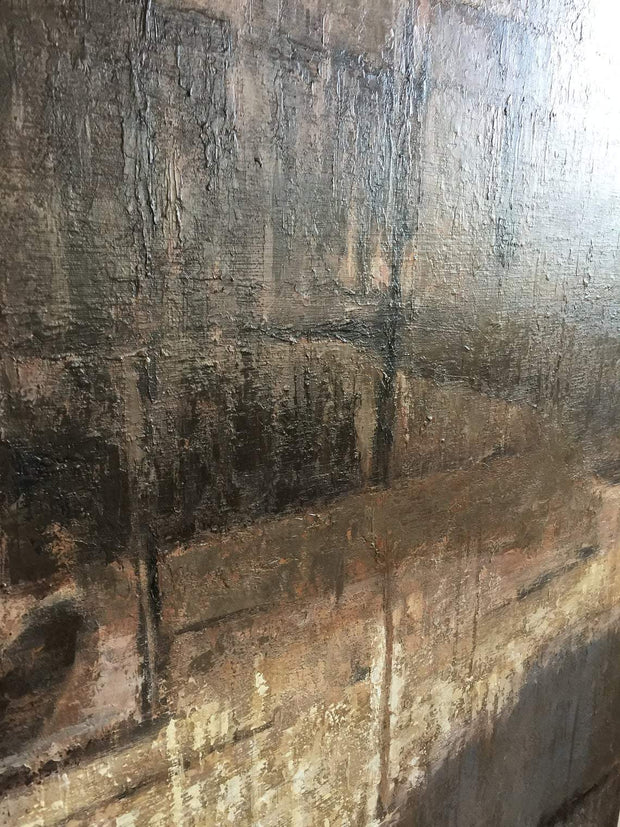 Large Canvas Art Original Black Wall Art Brown Painting Abstract Canvas | BEHIND THE GLASS - Trend Gallery Art | Original Abstract Paintings