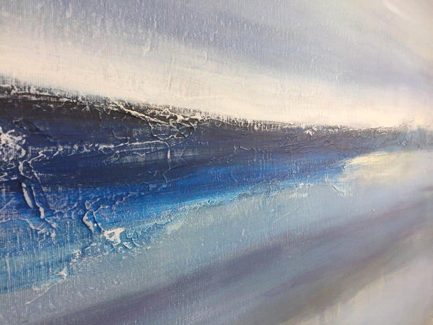 Large Wall Art Abstract Blue Wall Art Brown Painting Sea Abstract Painting Canvas | PIECE OF PARADISE - Trend Gallery Art | Original Abstract Paintings
