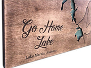 Martin Lake Map Wooden Framed Art Martin Lake Wall Art Solid Wood Gift Wall Hanging Wood Decor Martin Lake Map Custom Sign Gift | WOOD DECOR# 26 - Trend Gallery Art | Original Abstract Paintings