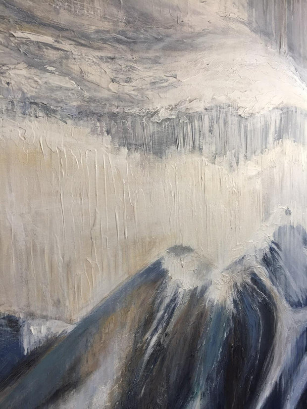 Mountain Landscape Abstract Gray Abstract Painting Alaska Original Art on Canvas | GREAT MOUNTAINS - Trend Gallery Art | Original Abstract Paintings