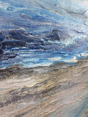 Waves Abstract Painting Ocean Paintings On Canvas Modern Landscape Painting Blue Sea Abstract Paintings On Canvas | THE TENDERNESS OF NATURE - Trend Gallery Art | Original Abstract Paintings