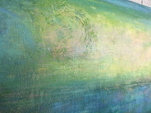 Green Painting Modern Painting Abstract Oil Painting Wall Painting On Canvas 2 Piece | TURQUOISE MEADOW - Trend Gallery Art | Original Abstract Paintings