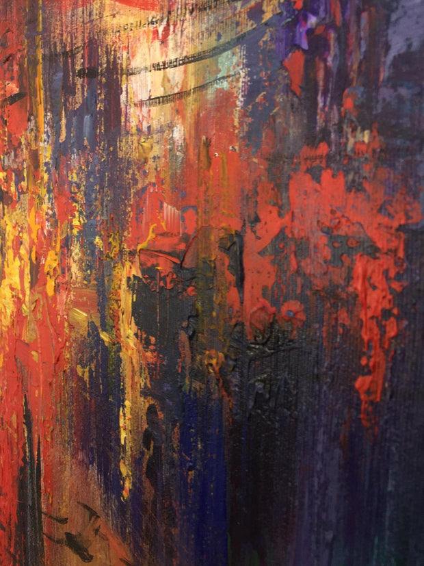 Original Abstract Paintings On Canvas Creative Oil Artwork | ERUPTION