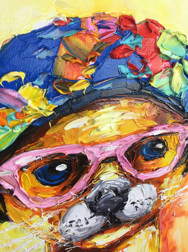 Chihuahua Painting Original Dog Painting Pop Art Chihuahua Impasto Painting | CURIOUS CHI - Trend Gallery Art | Original Abstract Paintings