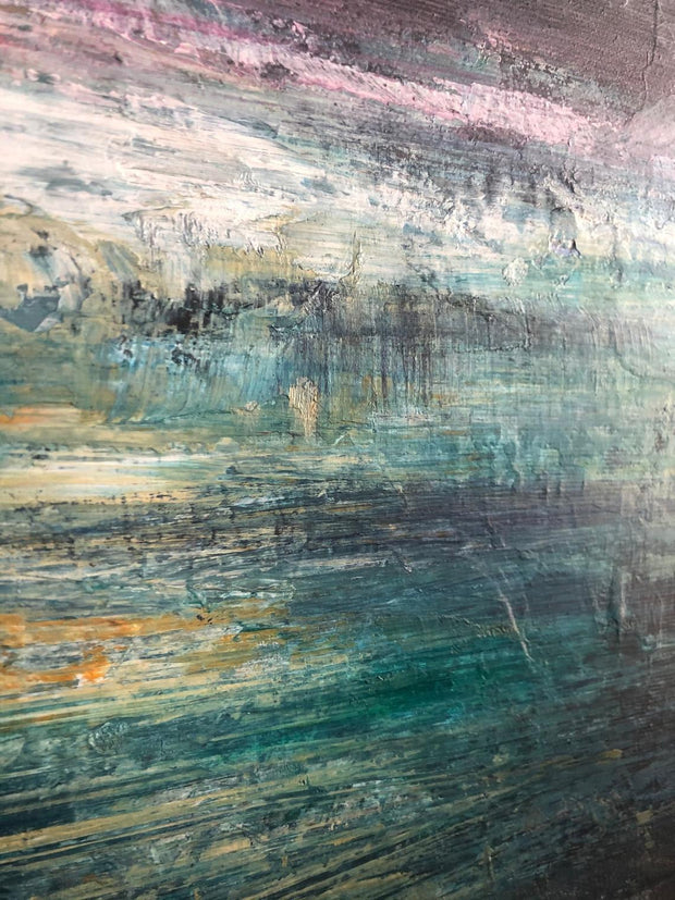 Original Abstract Painting Abstract Sea Paintings On Canvas Abstract Landscape Painting | SPACE SEA - Trend Gallery Art | Original Abstract Paintings