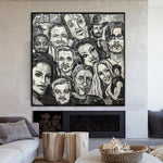 Original Faces Of Actors Abstract Painting Lifestyle Abstract Acrylic Paintings On Canvas | FAMED PEOPLE