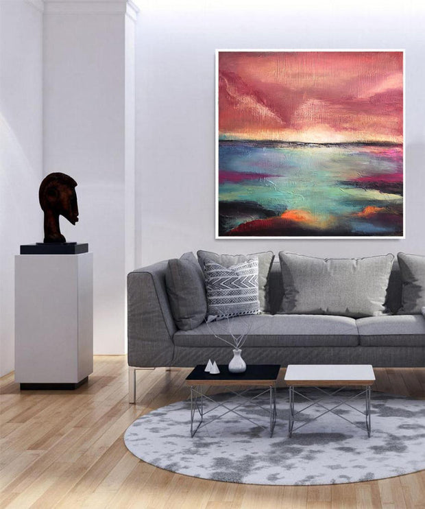 Original Sea Painting Colorful Landscape Acrylic Painting Extremely Unique Painting Landscape Abstract | MAGICAL DREAM - Trend Gallery Art | Original Abstract Paintings