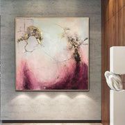 Abstract Acrylic Paintings On Canvas Gold Leaf Painting Blush Original Large Art Unique Abstract Artwork Wall Artwork | SOMEWHERE IN THE HEAVEN - Trend Gallery Art | Original Abstract Paintings