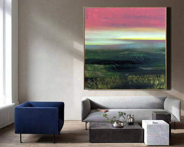 Large Abstract Painting On Canvas Abstract Oil Painting Pink Abstract Painting Modern Painting Original | MYSTERIOUS PLACE - Trend Gallery Art | Original Abstract Paintings