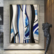 Original Abstract Painting Oversize Abstract Painting Blue Painting Abstract Acrylic Paintings On Canvas | SEA'S SONGS - Trend Gallery Art | Original Abstract Paintings