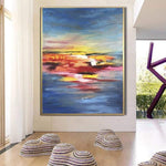 Original Abstract Painting Large Oil Abstract On Canvas Colorful Wall Art | UNREAL REALITY