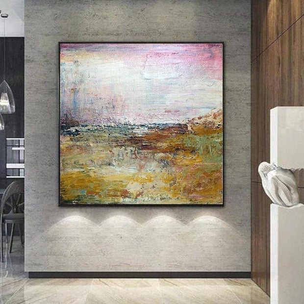 Original Colorful Painting Abstract Field Painting Modern Colorful Wall Art For Living Room Abstract Countryside Painting | FABULOUS VISION - Trend Gallery Art | Original Abstract Paintings