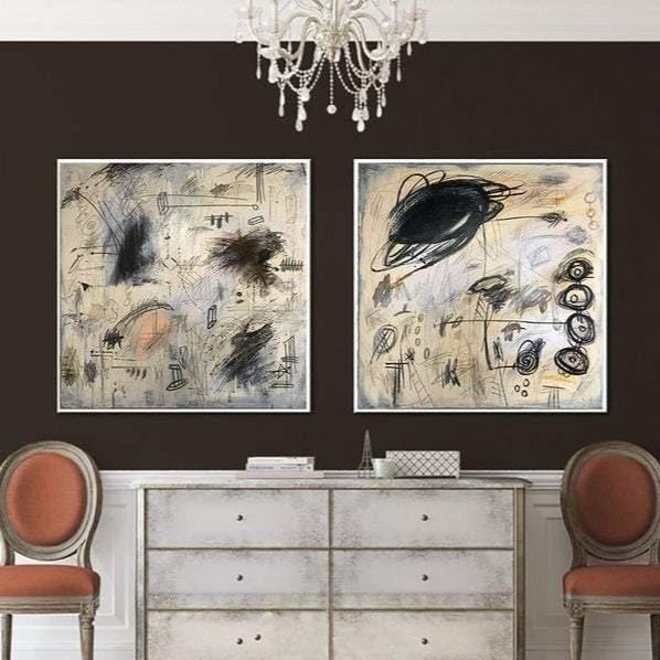 Abstract Beige Painting On Canvas Original Gray Painting Modern Wall Art Beige White Painting For Living Room | CHANGING THE FUTURE - Trend Gallery Art | Original Abstract Paintings