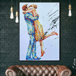 Oil Paintings Abstract Wall Art Hand Love Couple Romantic Canvas | RENDEZVOUS
