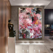Large Canvas Wall Art Original Oil Painting Abstract Flowers Painting Texture Art Abstract Acrylic Large Wall Decor Living Room Office Decor | INSIDE THE LOTUS - Trend Gallery Art | Original Abstract Paintings
