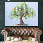 Extra Large Canvas Wall Art Abstract Tree Painting Weeping Willow Canvas Artwork Original | WEEPING WILLOW