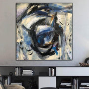 Abstract Art Large Abstract Painting Gray Painting Original Paintings On Canvas Modern Wall Art | BLACK ROSE - Trend Gallery Art | Original Abstract Paintings