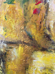 Large Abstract Oil Painting Gold Painting Orange Painting Original Abstract Painting Canvas | GOLDEN ELEGANCE - Trend Gallery Art | Original Abstract Paintings
