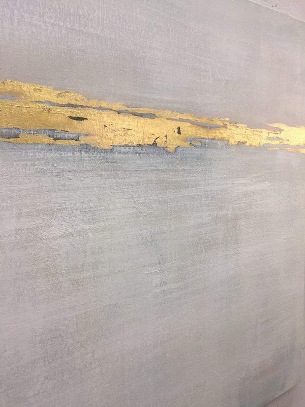Abstract Acrylic Painting On Canvas Original Gray Painting Gold Painting Contemporary Art | GLEAM - Trend Gallery Art | Original Abstract Paintings