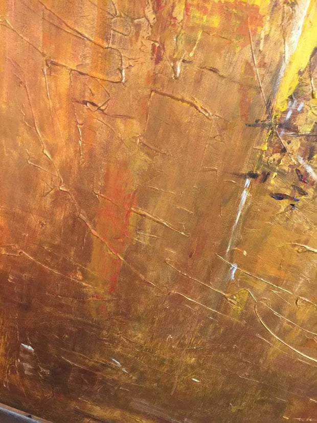 Abstract Painting Original Oversized Painting Yellow Painting Gold Painting | GOLD RUSH - Trend Gallery Art | Original Abstract Paintings