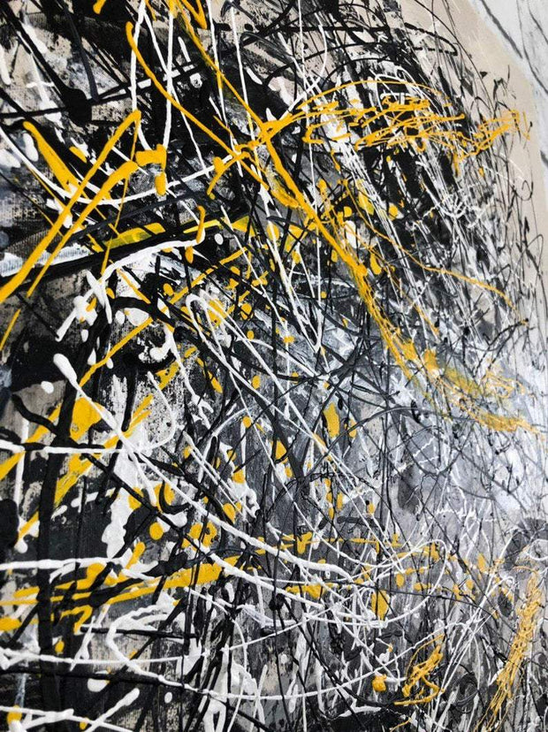 Abstract Canvas Painting Black and White Abstract Painting Abstract Canvas Art Large Canvas | INTERTWINING FATE - Trend Gallery Art | Original Abstract Paintings