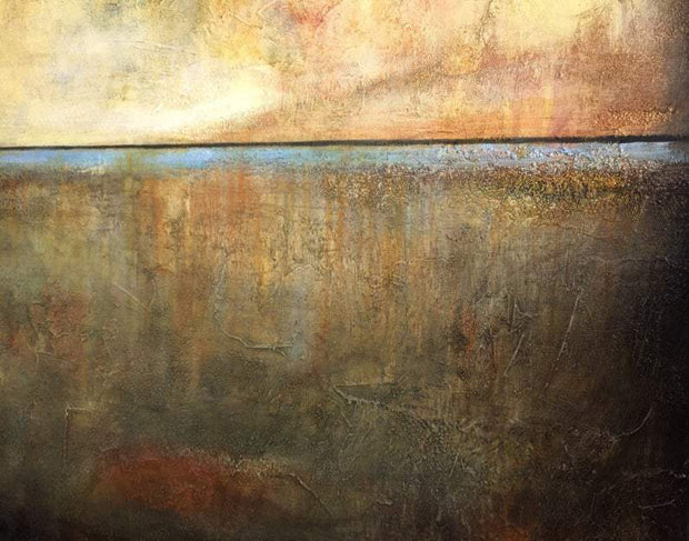 Abstract Acrylic Painting Brown Painting Beige Painting Contemporary Art | OVERWHELMING SUNSET - Trend Gallery Art | Original Abstract Paintings