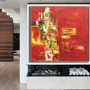 Large Abstract Painting On Canvas Red Painting Contemporary Painting | BLOODY SUNSET - Trend Gallery Art | Original Abstract Paintings