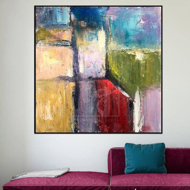 Large Abstract Art Modern Painting Abstract Original Colorful Painting | NEIGHBORHOODS - Trend Gallery Art | Original Abstract Paintings