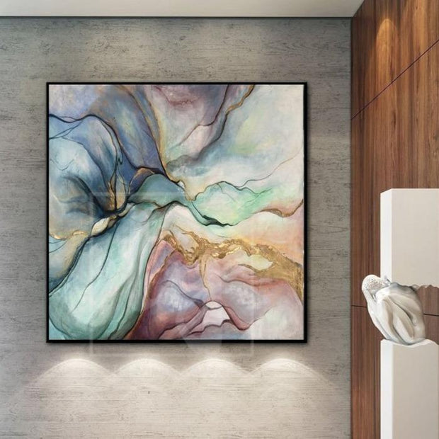 Large Abstract Original Painting Colorful Painting Gold Painting Oil Abstract Artwork | SILK CLOUDS - Trend Gallery Art | Original Abstract Paintings