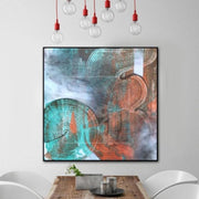 Large Abstract Painting On Canvas Gray Painting Contemporary Painting | TEMPORARY PATH - Trend Gallery Art | Original Abstract Paintings