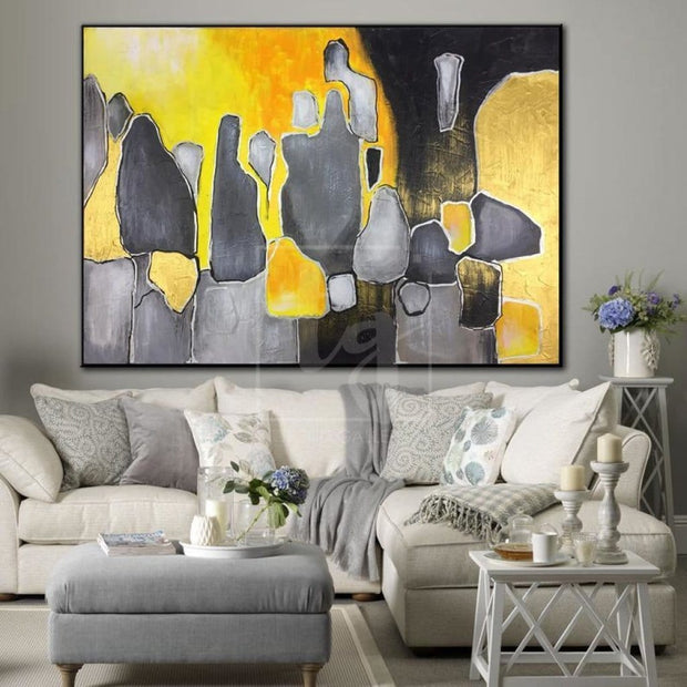 Large Abstract Painting On Canvas Original Abstract Painting Modern Painting Contemporary Art Acrylic Painting | SUN STONES - Trend Gallery Art | Original Abstract Paintings
