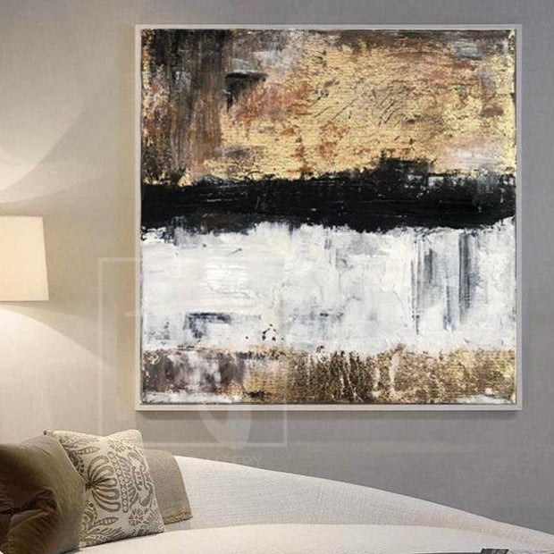 Large Abstract Painting Original Gold Leaf Painting Acrylic Painting On Canvas | VISION OF PERFECTION - Trend Gallery Art | Original Abstract Paintings