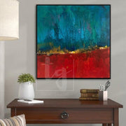 Large Abstract Painting Original Gold Leaf Painting Contemporary Artwork | ECHOES - Trend Gallery Art | Original Abstract Paintings