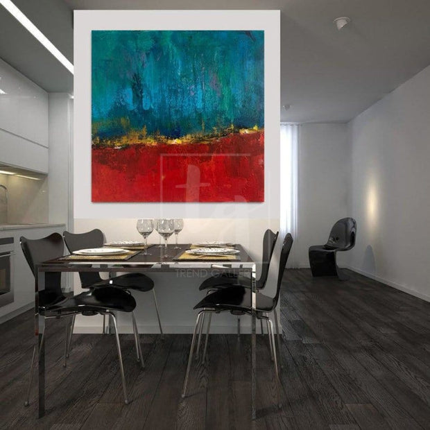 Large Abstract Painting Original Gold Leaf Painting Contemporary Artwork | ECHOES