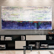 Oversized Painting Ocean Painting Large Canvas Painting Blue Painting White Painting | FABULOUS LAKE - Trend Gallery Art | Original Abstract Paintings