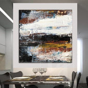 Large Colorful Abstract Artwork Large Abstract Canvas Art Wall Abstract Painting | GRAVITY FALL